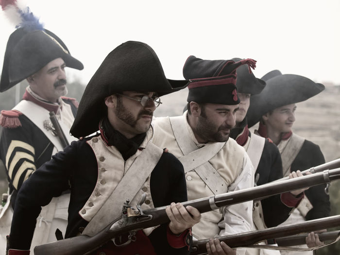 Musketeers Soldier Actor Charge Musketeer Musketeers Outdoors Real People War Weapon Young Adult