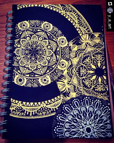 Art Mandala YohkoAmaterraArt Mandalay Zentangle Drawing Gold My Drawing ArtWork Create 曼荼羅 マンダラ