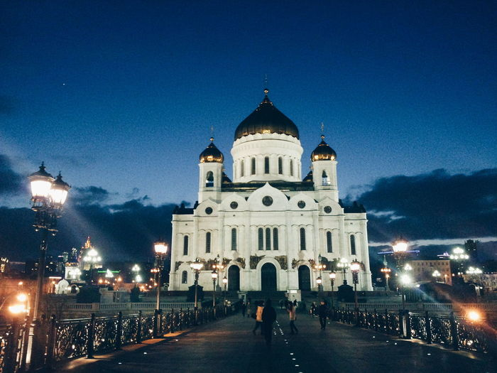 Architecture Religion Dome Illuminated Place Of Worship Night Building Exterior Spirituality Travel Destinations Built Structure City No People Outdoors Sky Clock Face Church Moscow Moscow, Москва Moscow, Russia Cathedral Cathedral Of Christ The Savior Neighborhood Map