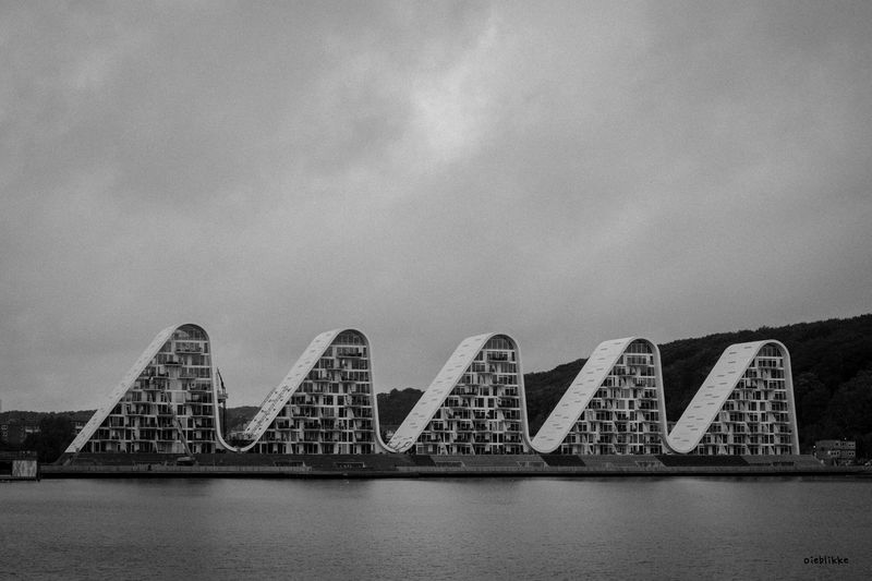 Bølgen Vejle Contrast Blackandwhite EyeEm Selects Built Structure Architecture No People Water Sky Building Exterior