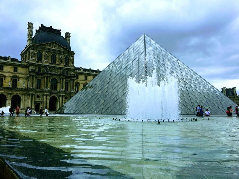 Architecture Built Structure History Travel Destinations Pyramid Ancient Civilization Museum Louvre Monalisa Tourism
