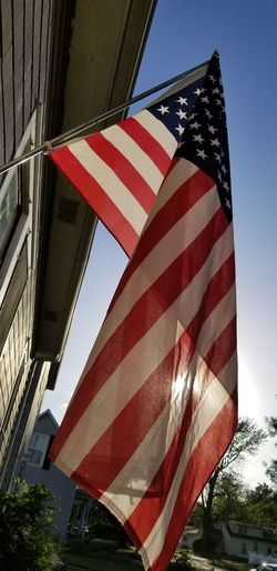 Stars And Stripes Patriotism Red Flag Cultures Striped Sky Close-up National Icon National Flag Independence American Flag World At Your Fingertips Star Shape Symbolism Flag Pole Building