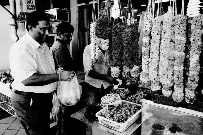 """The Stall"" Shot with X-T1 Streetphotography Blackandwhite Fujifilm FUJIFILM X-T1 LittleIndia Monochrome Bnw Streetphoto_bw Stall"