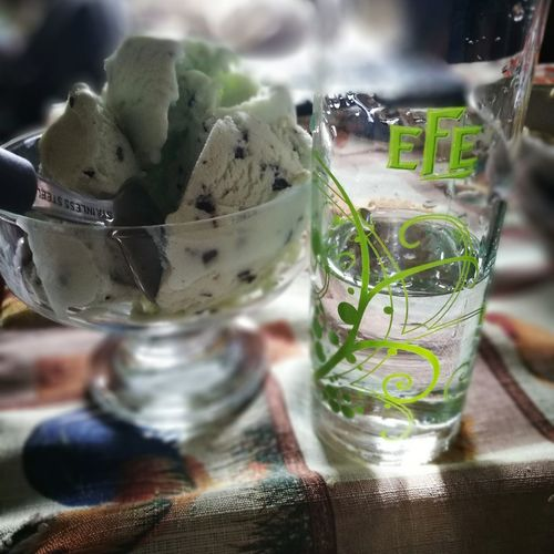 Food And Drink Drinking Glass Refreshment Drink No People Indoors  Cocktail Freshness Cold Temperature Tonic Water Close-up Day Frozen Food Mojito HuaweiP9 Icecream Mint Uzo Eferaki