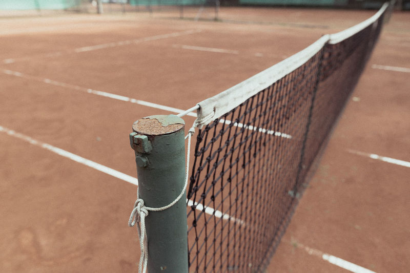 Tennis court Netz Close-up Competition Court Day Focus On Foreground Linien No People Outdoors Playing Field Racket Sport Sport Sports Track Tennis Tennis Net