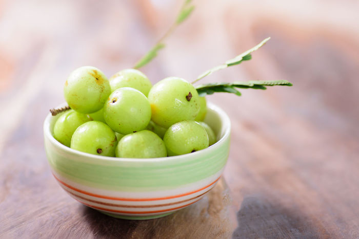 Food And Drink Tropical Fruits Bowl Close-up Day Focus On Foreground Food Food And Drink Freshness Fruit Gooseberry Green Color Healthy Eating Healthy Food Indian Gooseberry Indoors  Ingredient No People Ripe Sour Taste Table Vitamin C Wood - Material