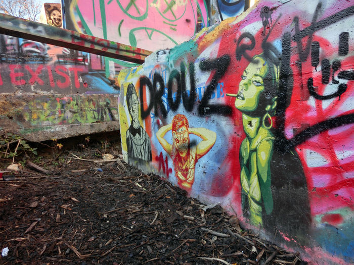 Art And Craft Close-up Creativity Day Graffiti Multi Colored No People Outdoors Street Art Text