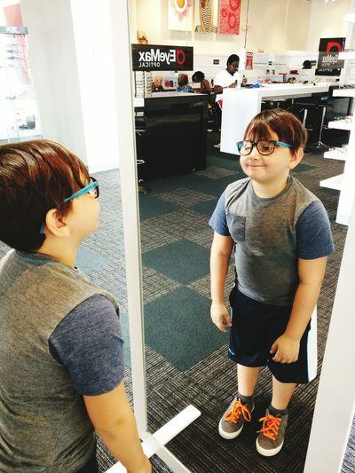 Ethan got New Glasses !