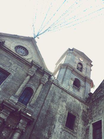 """San."" Church Churchporn Churchtower Church Bells Manila ManilaStreetPhotography Clock Religious Architecture Philippines The Tourist Baroque Heritage"