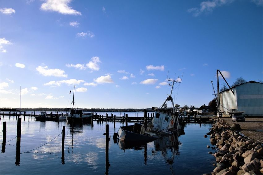 Architecture Building Exterior Built Structure Cloud - Sky Day Harbor Nature Nautical Vessel No People Outdoors Sea Sky Tranquility Water Waterfront