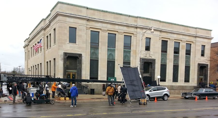 Movie Set On The Streets Movie Filming American Gods Tv Series NEW SERIES Guelph=chicago