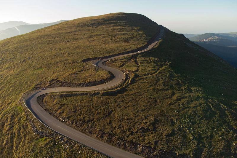 Transalpina mountain road, at sunrise