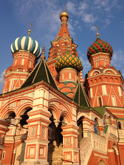 Architecture Dome Golden Hour Moscow Moscow Churches Moscow City Ornate Place Of Worship Religion Russian Church Russian Orthodox Russian Orthodox Church Spirituality St Basil's Cathedral