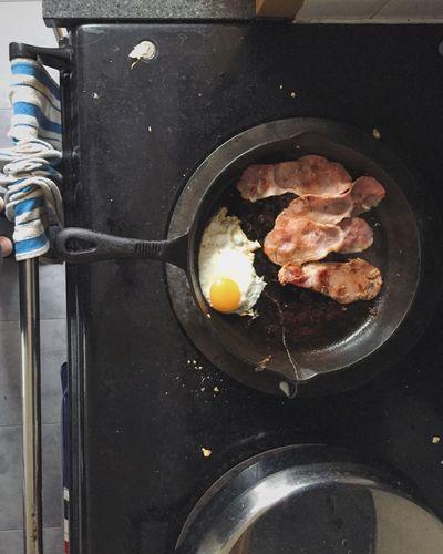 Full English Breakfast Breakfast Bacon And Eggs