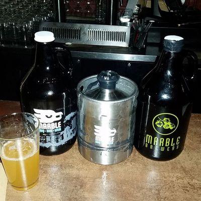 Marblebrewery Doublewhite Beer had to get a mini keg Growler