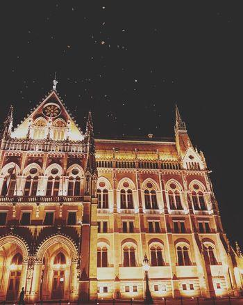 The parliament of Budapest Parliament Building Parliament Night Nightphotography Birdsflyinghigh Architecture Majestic