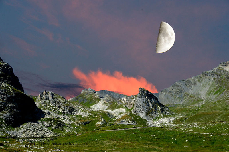 Italienmountain Moon Sunset_collection Beauty In Nature Day Idyllic Italy Land Moon Mountain Nature No People Non-urban Scene Outdoors Power In Nature Rock Rock - Object Scenics - Nature Sky Solid Space Swissmountain Switzerland❤️ Tranquil Scene Tranquility Water