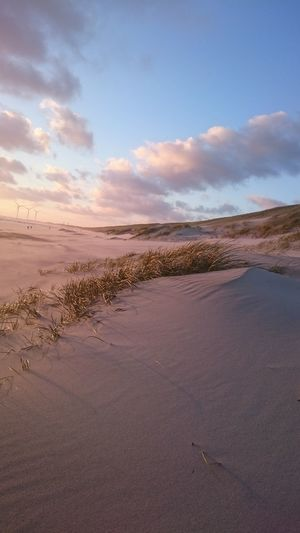 EyeEm Selects Sand Landscape Tranquility Sunset Scenics Outdoors Water Cloud - Sky Beauty In Nature Sky No People Day Beach Blue Nature Low Tide Horizon Over Water Wave Sand Dune First Eyeem Photo