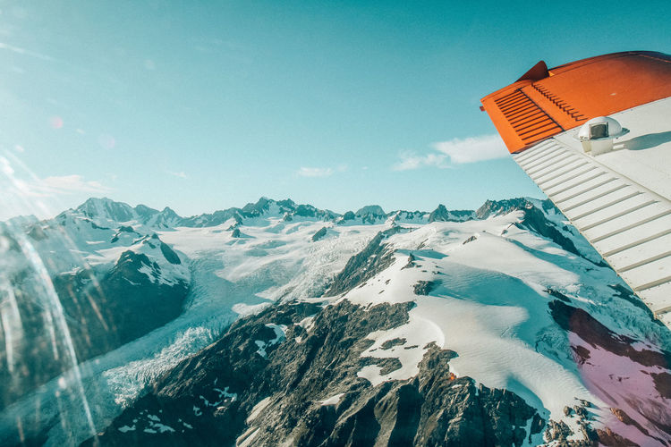 Fly over Nature Outdoors Photograpghy  New Zealand Snow Plane View Flying Mountain Water Sky Architecture Building Exterior Built Structure