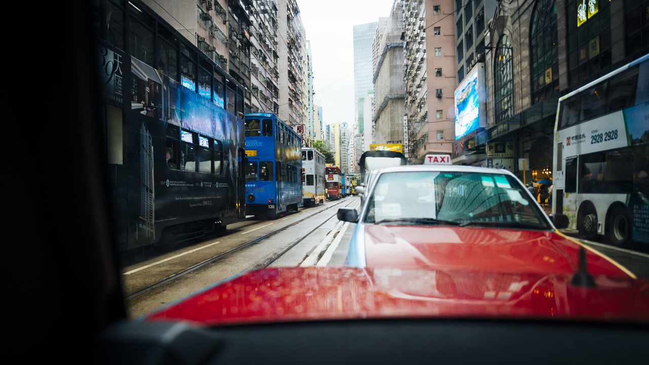 WET CARS IN CITY