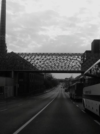 Streetphotography Black And White City PhonePhotography Siluette Pécs Bridge Zsolnay