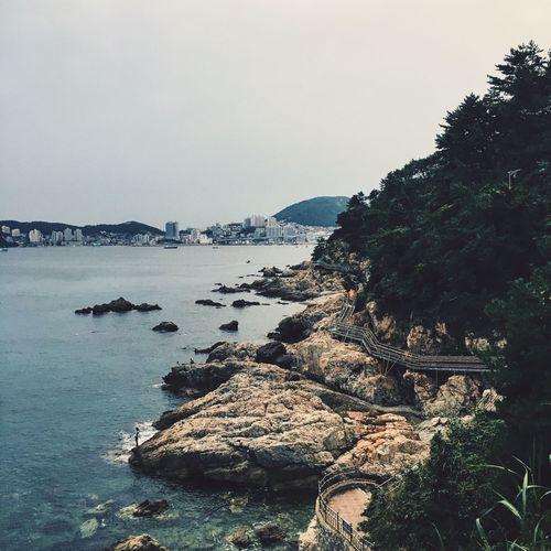 Walking trail in Busan, Yeongdo. Water Beauty In Nature Non-urban Scene Sea Tourism Busan Korea Outdoors