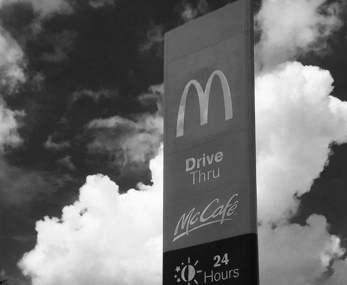 Blackandwhite Bigmac,McDonald's Cloud - Sky EyeEmNewHere The Great Outdoors - 2018 EyeEm Awards