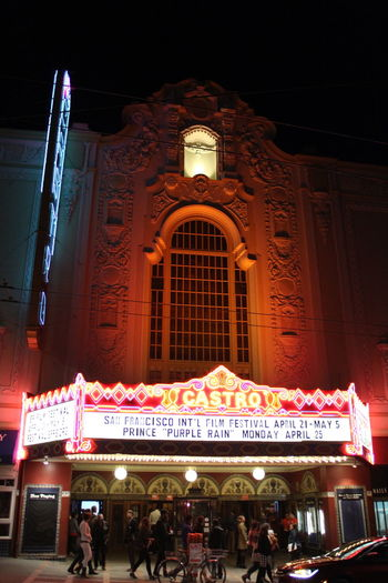 Architecture Built Structure City City Life Façade Illuminated Lifestyles Marquee Theater Night Outdoors Theater Travel Destinations