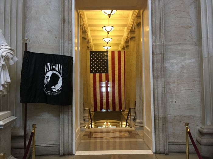 POW - MIA Respect Military POW MIA US Capitol Building Lighting Equipment Architecture No People Built Structure Building Indoors  Illuminated