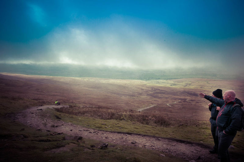 Adult Adults Only Beauty In Nature Cloud - Sky Full Length Landscape Leisure Activity Lifestyles Men Mountain Nature One Man Only One Person Only Men Outdoors Pen-y-ghent People Photographer Photography Themes Scenics Sky Standing Three Peaks Yorkshire Dales Yorkshire Three Peaks