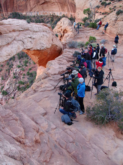 Canyonlands National Park, Utah Ready Waiting Activity Full Length Group Of People High Angle View Outdoors Perfect Shot Photographers Real People Rock - Object Set Up Sunrise Tourism Tripods The Photojournalist - 2019 EyeEm Awards