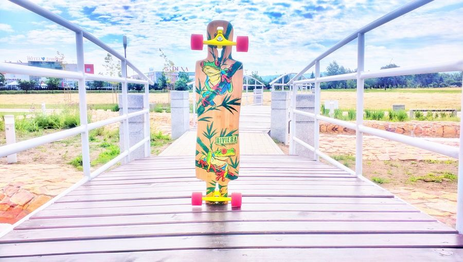 Sky 😚 School Life  Have A Nice Day♥ Hi! Enjoying Life Biutifull Photo Light And Shadow Hello World Relaxing Light Bridge Longboard