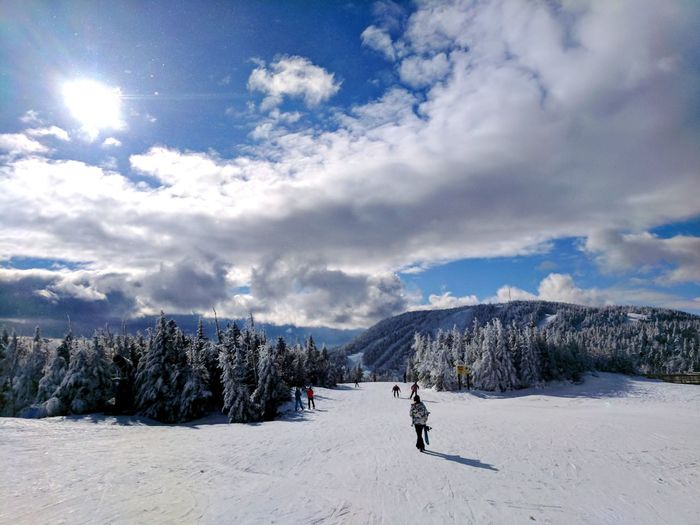 Sunshine and snowflakes Snow Winter Landscape Sky Cold Temperature Outdoors Mountain Upstate New York Skiing