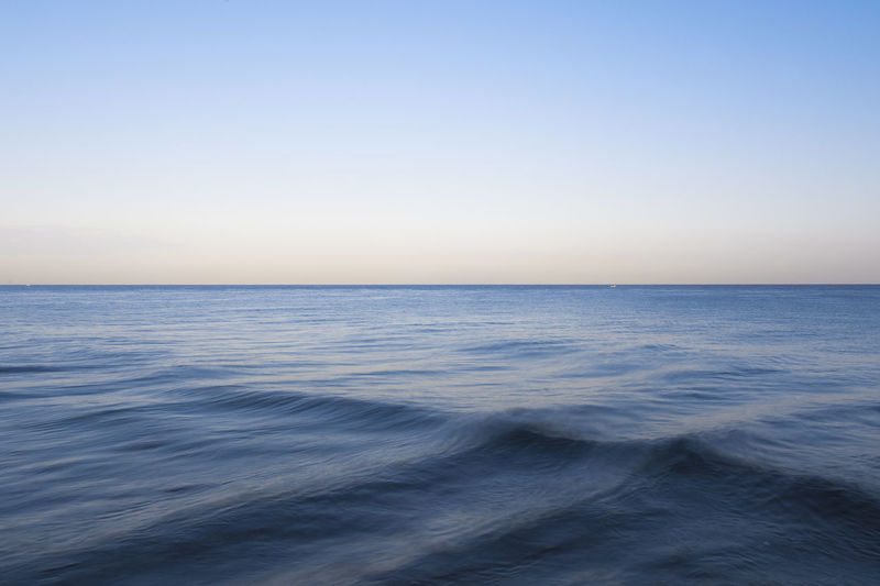 Wave physics Waves, Ocean, Nature Waves Wave Outdoors Motion Seascape Clear Sky Tranquility No People Blue Tranquil Scene Nature Beauty In Nature Horizon Horizon Over Water Scenics - Nature Sky Water Sea Minimalism