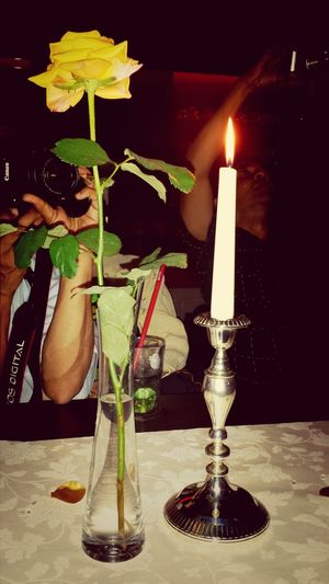 When a candle and a flower make the difference!!