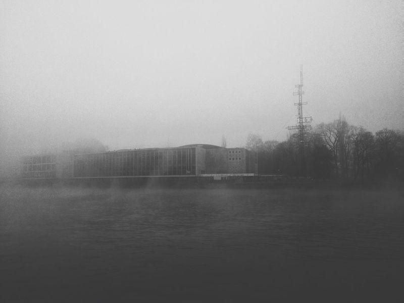 While the day was waking up. Morning Fog River Liège Meuse Belgium