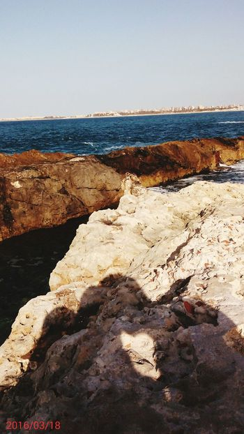 Shadow Love See Alexandria Egypt Röcke Elmontazah Vacations Beach Sea Sand Horizon Over Water Outdoors Nature No People Water Travel Destinations Vacations Landscape Sky Clear Sky Day Scenics Beauty In Nature Wave