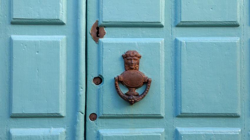 Architectural Feature Close-up Door Handle Door Knob Door Knocker Door Lock Entrance Keyhole Lock Locked Up No People Old Buildings Outdoors Wooden Door