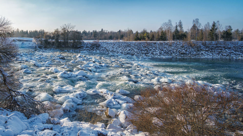 Beauty In Nature Cold Temperature Day Ice Nature No People Outdoors River Lech Scenics Snow Water Winter
