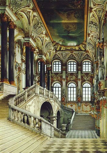 Architecture Indoors  Built Structure Arch No People Day Horizontal Travel Architectural Column Tourism Steps Stairs Baroque Hermitage Russia Petersburg Trustme Culture History Day