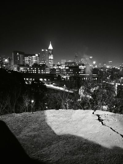 Atlanta Architecture Building Exterior Built Structure City Night Cityscape Illuminated No People Outdoors Urban Skyline Sky