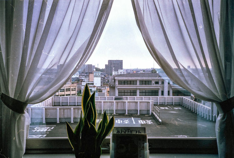 Skyscraper Cityscape City Architecture Urban Skyline Modern Building Exterior Built Structure Night Roof Luxury Sky Indoors  No People Hotel Potted Plant Ise Japan Film Photography 135film