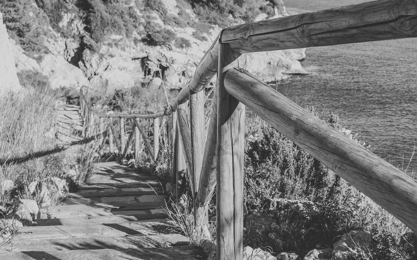 Walking On The Beach Stairs And Steps Perspective Perspectives Railing Railings Railing _ Collection Beach Sea Black And White Black & White Black And White Photography Personal Perspective EyeEm Diversity