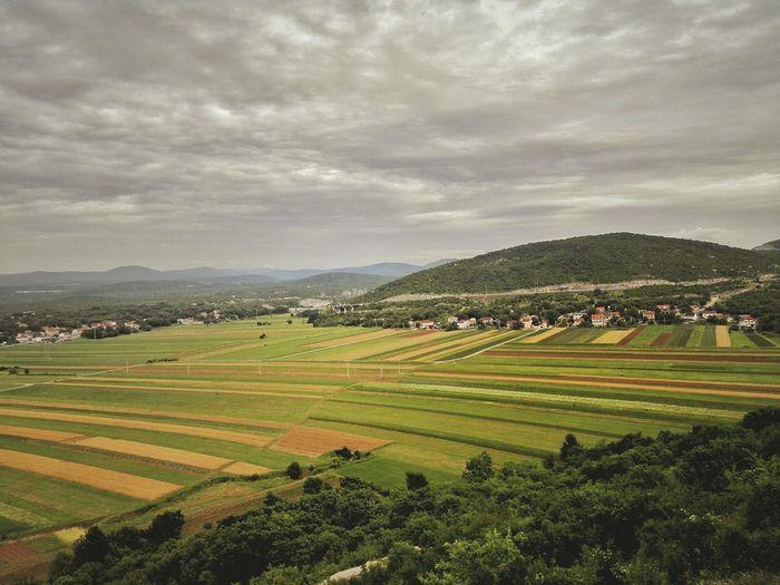 Roadtrip Croatia Farmland EyeEm Nature Lover Lines Cloudy