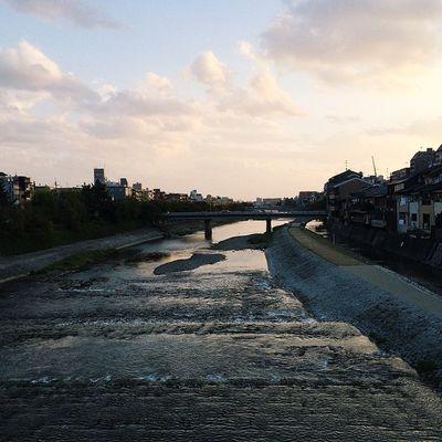 The Kama Gawo river in Kyoto. Candjsbigtrip2014 Kyoto Beautiful Goldenhour Vscocam