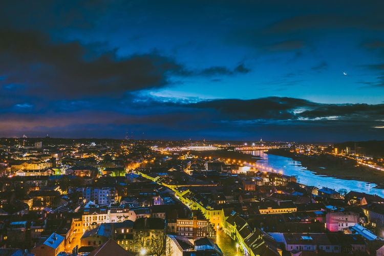City at night Drone  Aerial View Aerial Mavic Mavic 2 Mavic 2 Pro Birds Of EyeEm  Europe City At Night Building Exterior City Architecture Cityscape Built Structure Sky Cloud - Sky Illuminated Building Nature Residential District Night High Angle View Dusk Outdoors City Life Settlement