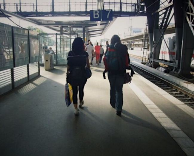 Backpackers Transportation Railroad Station Platform Station Real People Interail Railroad Station BackpackersMemories Experience Adventure Buddies Adventure Time Daydream Travel Travel Photography Travelingtheworld  Your Ticket To Europe