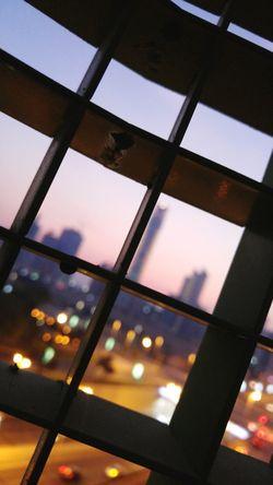 Birds Eye View City Lights From The Balcony Twilight Sky City Light