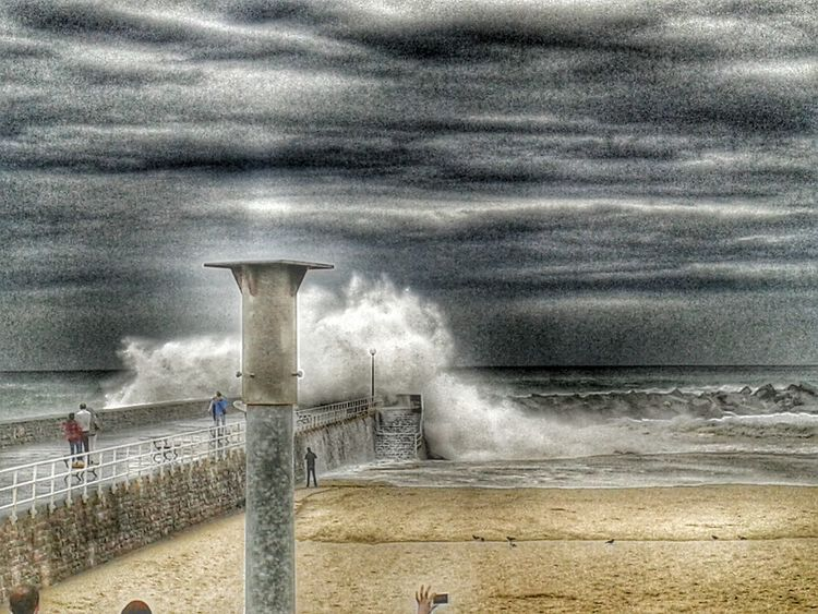 Donosti Donostia / San Sebastián Beach Storm Storm Cloud Miles Away