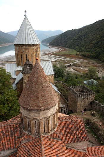 Ananuri Georgia Georgien Monestary Church Architecture Built Structure Building Exterior Building Roof Sky Mountain Religion Nature The Past History Belief Place Of Worship Spirituality Old Day No People Travel Roof Tile